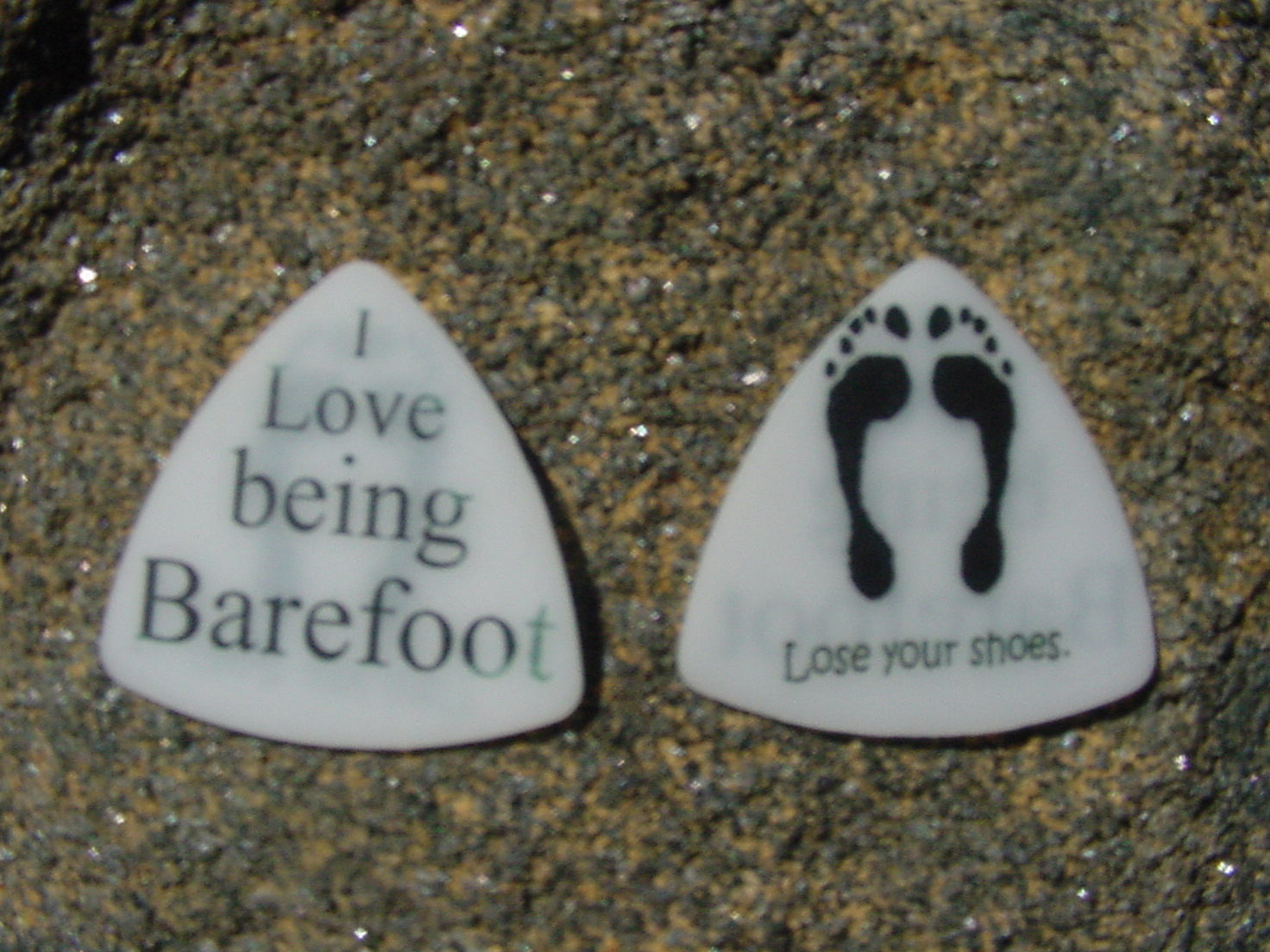 Barefoot Guitar Picks .8mm triangular acetal